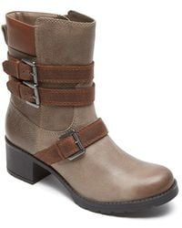 Rockport | City Casuals Rola Buckled Leather Boots | Lyst
