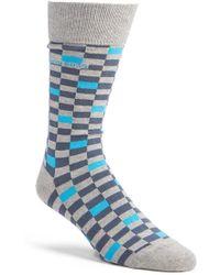 BOSS - 'rs Design' Check Socks - Lyst