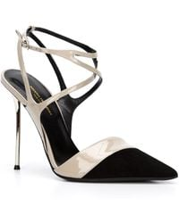 Narciso Rodriguez - Two-Toned Suede and Patent-Leather Court Shoes - Lyst
