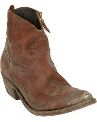 Golden Goose Deluxe Brand Young Western Ankle Boot - Lyst