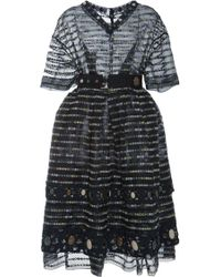 Marc Jacobs Green Flower Dot Embroidered Dress with Belt - Lyst