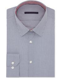 Elie Tahari Nickel Micro-check Dress Shirt - Lyst