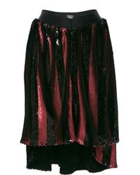 Alexis Mabille - Asymmetrical Striped Sequined Skirt - Lyst