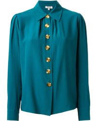 Yves Saint Laurent Vintage Button Down Shirt - Lyst