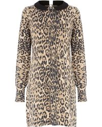 Oasis Animal Collar Dress - Lyst