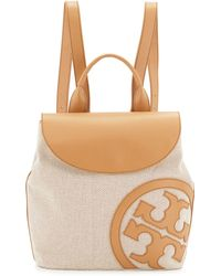 Tory Burch Lonnie Canvas Beach Backpack - Lyst
