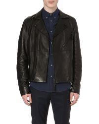 Acne Studios Oscar Leather Biker Jacket Black - Lyst