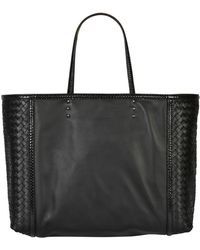 Bottega Veneta Woven Leather and Ayers Tote - Lyst