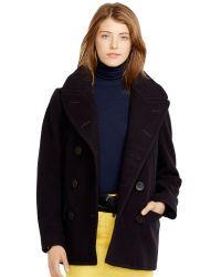Polo Ralph Lauren Wool Doublebreasted Pea Coat - Lyst