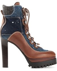 DSquared2 Blue Ankle Boots - Lyst