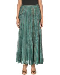 Missoni Knitted Maxi Skirt Greengold - Lyst