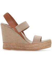 Tory Burch - Canvas Slip-On Wedge Mule - Lyst