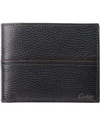 Cartier Saddle-Stitched 3 Slot Credit Card Holder - For Men - Lyst