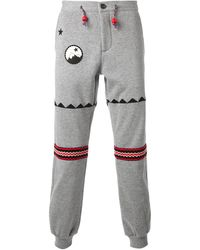 The Editor Embroidered Track Pants - Lyst