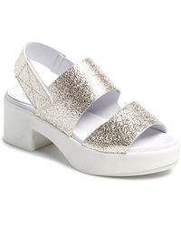 Miista Maddie Leather Platform Sandals - Lyst