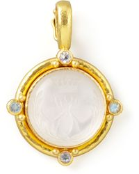 Elizabeth Locke - Rock Crystal Queen Bee Intaglio Pendant - Lyst
