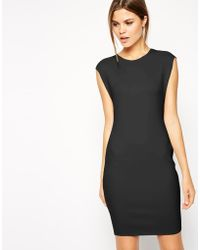 Asos Body-conscious Dress in Clean Scuba - Lyst