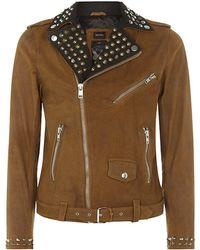 Diesel L-Ulisses Leather Biker Jacket - Lyst