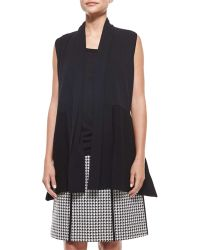 Lafayette 148 New York Ribbed Shawl-Collar Vest - Lyst