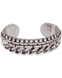 Dannijo Silver Nolan Chain Cuff Bracelet - Lyst