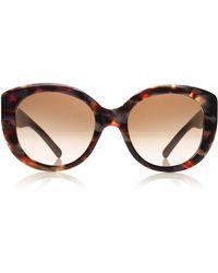 Tory Burch Oversized Round Sunglasses - Lyst