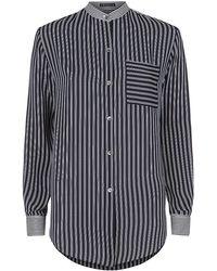 Theory Ziria Silk Shirt - Lyst