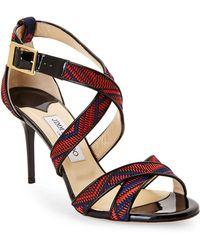 Jimmy Choo Louise Woven Sandals - Lyst