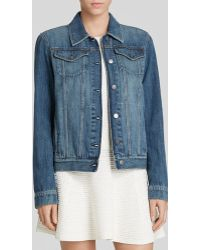 Theory Jacket - John Distressed Denim - Lyst