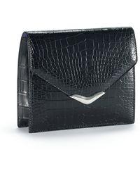 Ralph Lauren Alligator Envelope Clutch - Lyst
