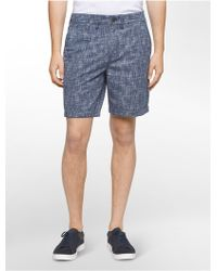 Calvin Klein | Jeans Abstract Print Twill Shorts | Lyst