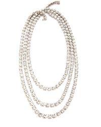 Tom Binns - Regal Gems 3 Strand Necklace Clear - Lyst