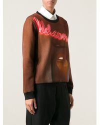 Mm6 By Maison Martin Margiela Photo Print Crew Neck Sweatshirt - Lyst