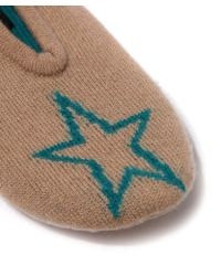 CASH CA - Brown Cashmere Star Slippers - Lyst