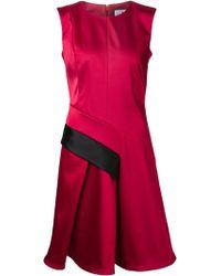 J. Mendel Contrast-Stripe Ruffled-Hem Dress - Lyst