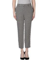 Joie Rosmira Geometric Printed Crepe Trousers black - Lyst