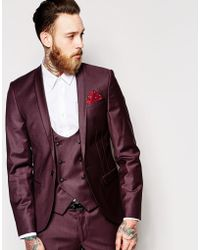 f960b0e4e32c Noose And Monkey - Suit Jacket With Shawl Lapel In Super Skinny Fit - Lyst