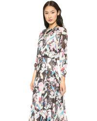 Rebecca Minkoff Lyric Dress Navy Multi - Lyst