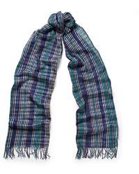 Missoni Crochet-Knit Cotton Scarf - Lyst
