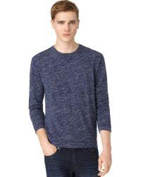 Calvin Klein Blue Slub Tshirt - Lyst