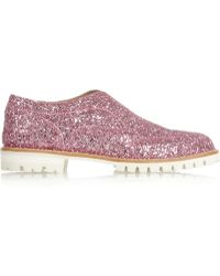 L'f Shoes L F Shoes Gipsy Ilga Glitterfinished Leather Brogues - Lyst