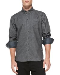 Rag & Bone Glen Plaid Oxford Shirt - Lyst