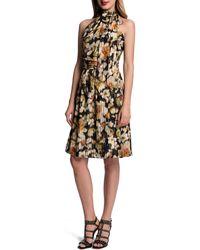 Cynthia Steffe Halter Floral-print Dress - Lyst