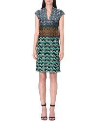 Missoni Knitted Vneck Dress Green - Lyst