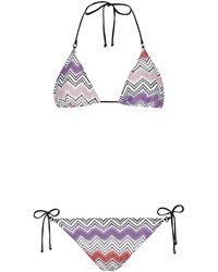 Missoni Mare Lurex Zig Zag Stripe Bikini - Lyst