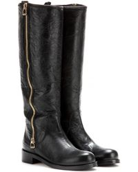 Jimmy Choo Doreen Leather Boots - Lyst