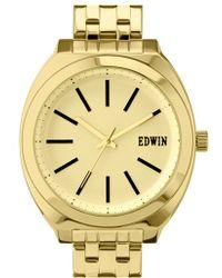 Edwin - 'era' Bracelet Watch - Lyst