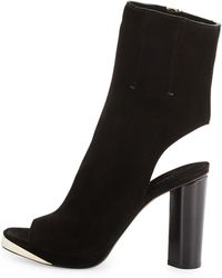 CoSTUME NATIONAL - Suede Peep-Toe Glove Pumps - Lyst