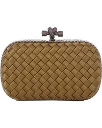 Bottega Veneta Intreccio Impero Clutch - Lyst