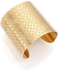 Michael Kors Heritage Monogram Logo Cuff Bracelet - Lyst