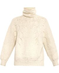 Oscar de la Renta Roll-neck Alpaca-blend Sweater - Lyst